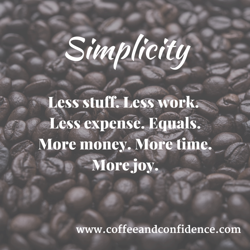 simplicity, finance, money, declutter, simplify