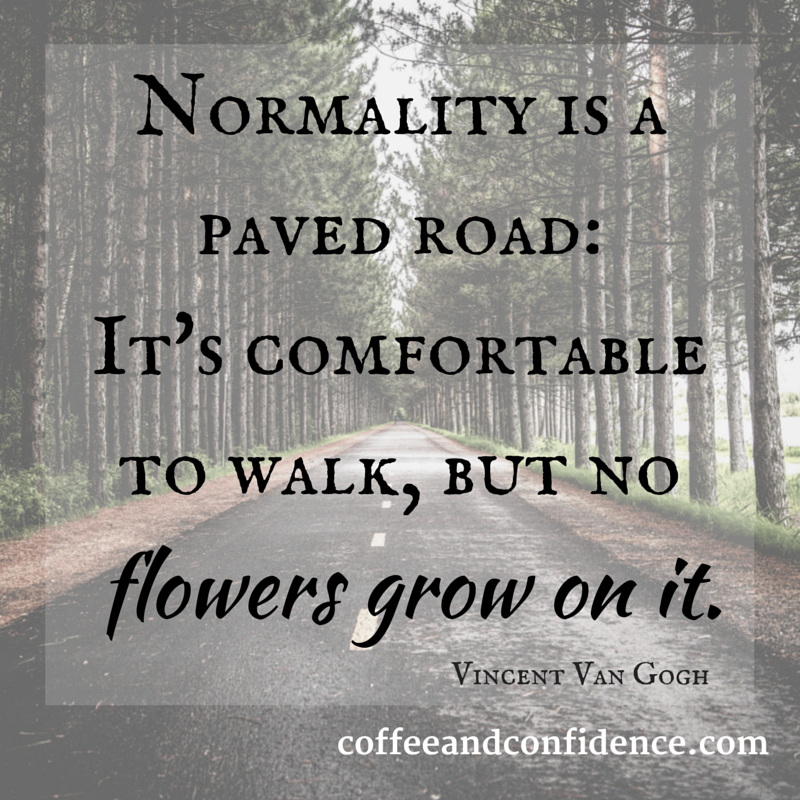 normality, paved, road, flowers, grow