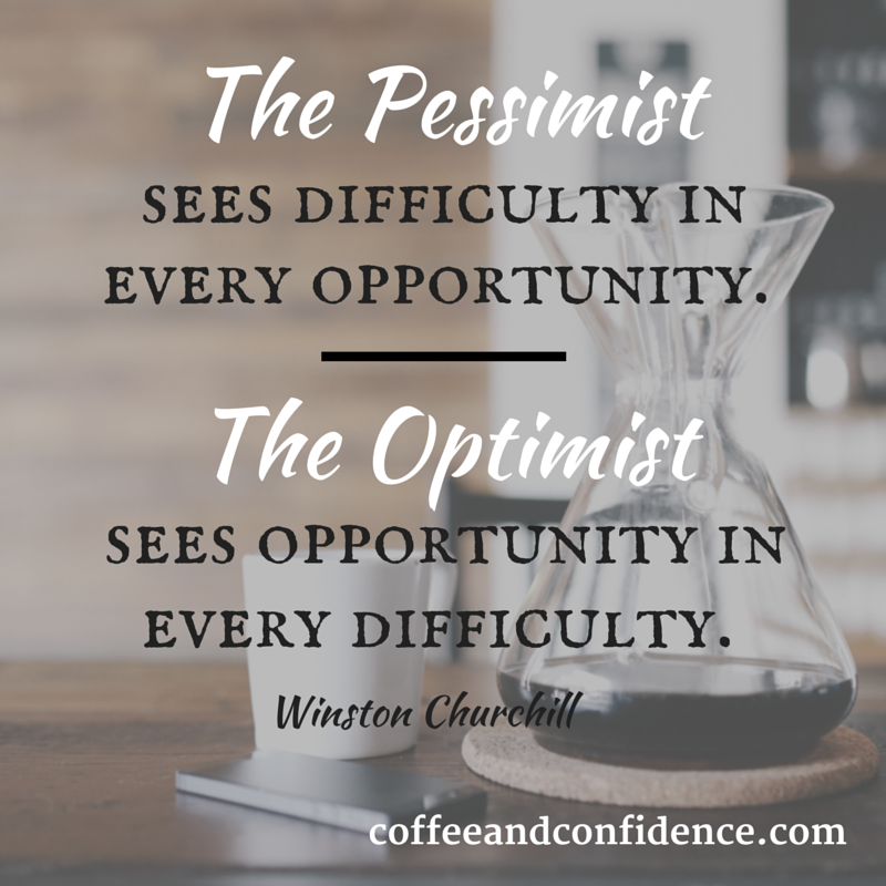 opportunity, pessimist, optimist, difficulty